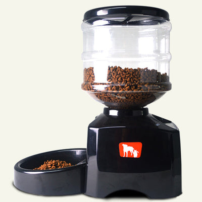 Automatic Pet Feeder with Voice Message Recording and Large LCD Screen 5.5L