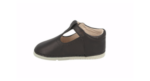 Toledo T-Bar Shoe Black Leather