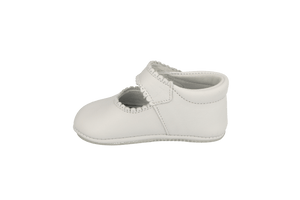 Salamanca Mary Jane White Leather