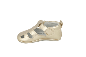 San Sebastian Sandal in Champagne Leather