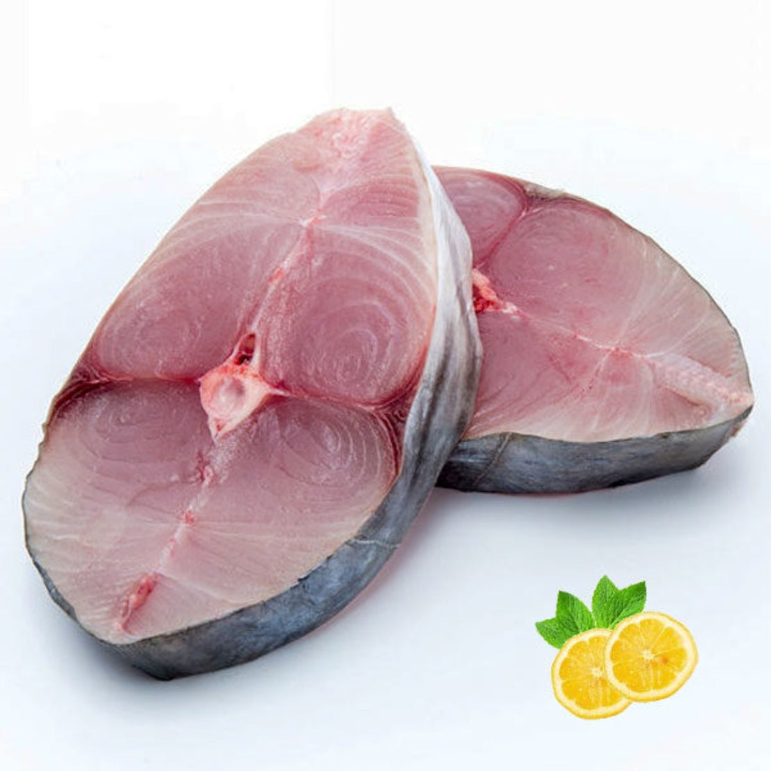 FROZEN SURMAI SLICES / SEER FISH SLICES / KING FISH SLICES (Single Bone, Skin on)- 250 Grams