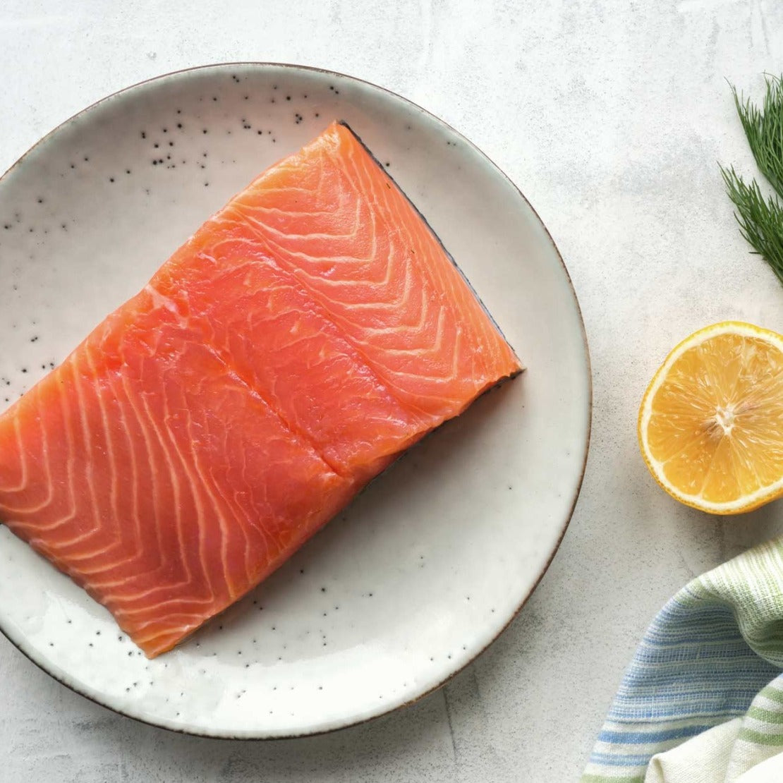 FROZEN NORWEGIAN SALMON FILLET (Boneless,Skin on) - 250 Grams