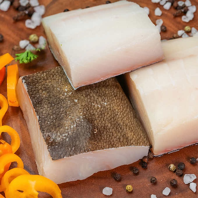 FROZEN Halibut Skin On Fillet (Boneless) 250gm