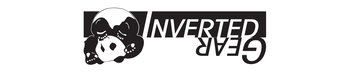 inverted gear brand logo banner