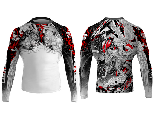 Raven Heaven and Hell Rashguard Long Sleeve