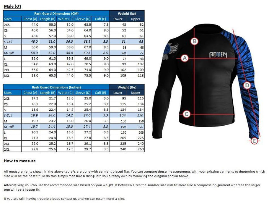 Raven Elements - Fire Rashguard