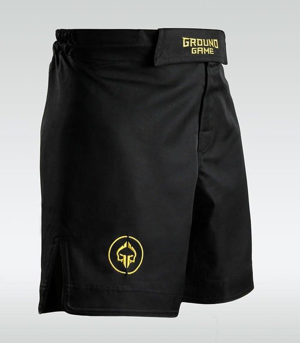 Ground Game Athletic Gold MMA Shorts