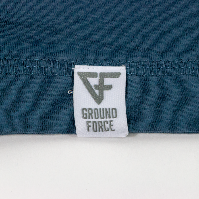 Ground Force Quote T-shirt Keep your friends close front blue logo