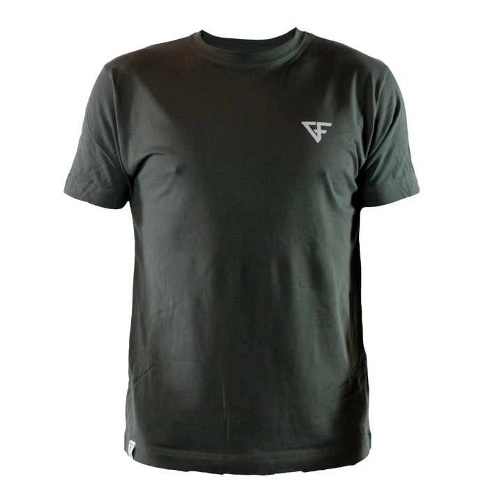 Ground Force Quote T-shirt Time on the mat front grey green