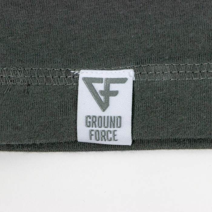 Ground Force Quote T-shirt Time on the mat front grey green logo