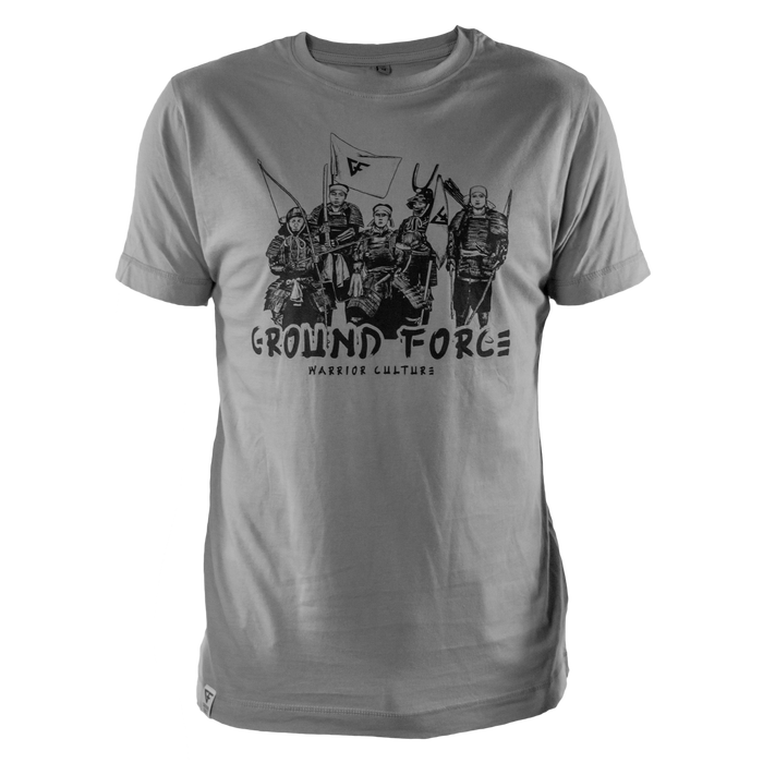 Ground Force Warrior Culture T-shirt samurai grey front
