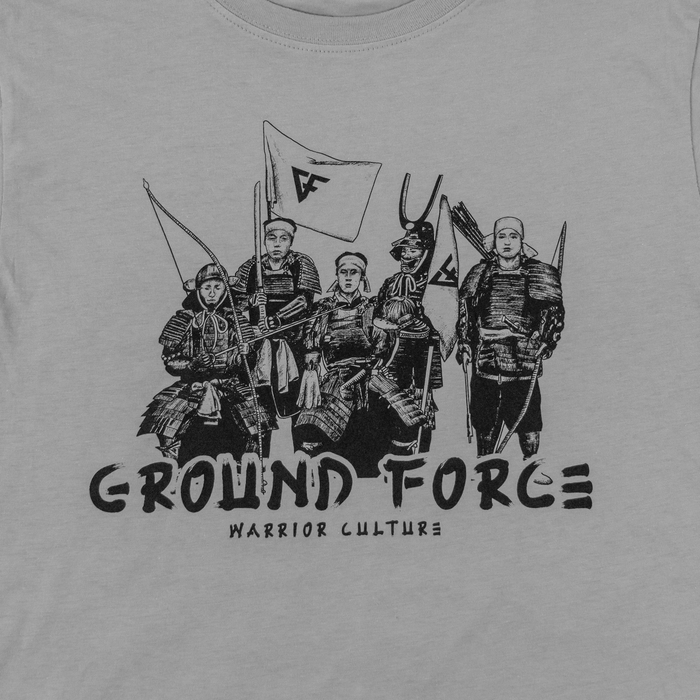 Ground Force Warrior Culture T-shirt samurai grey front picture detail
