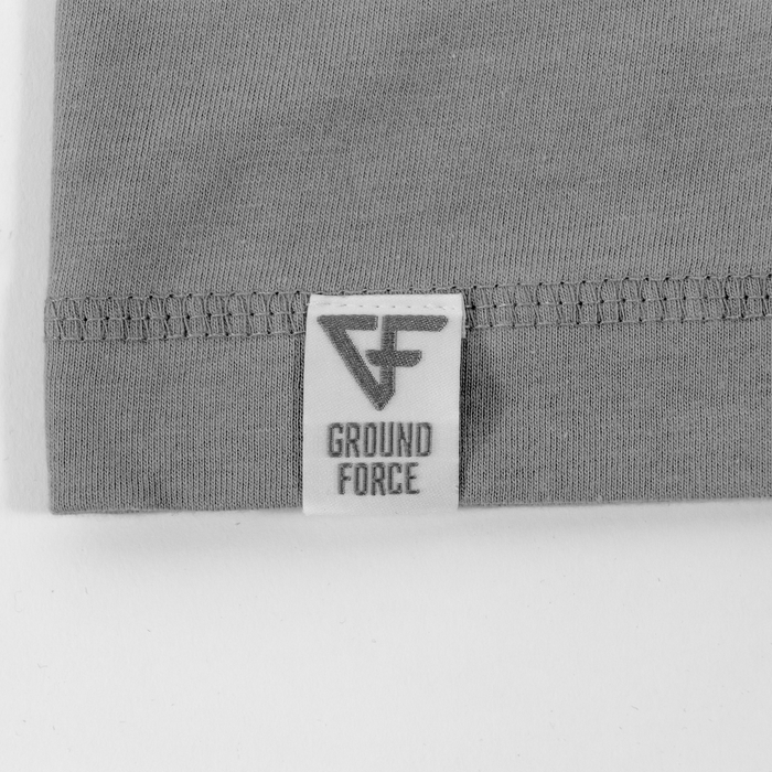 Ground Force Warrior Culture T-shirt samurai grey logo detail