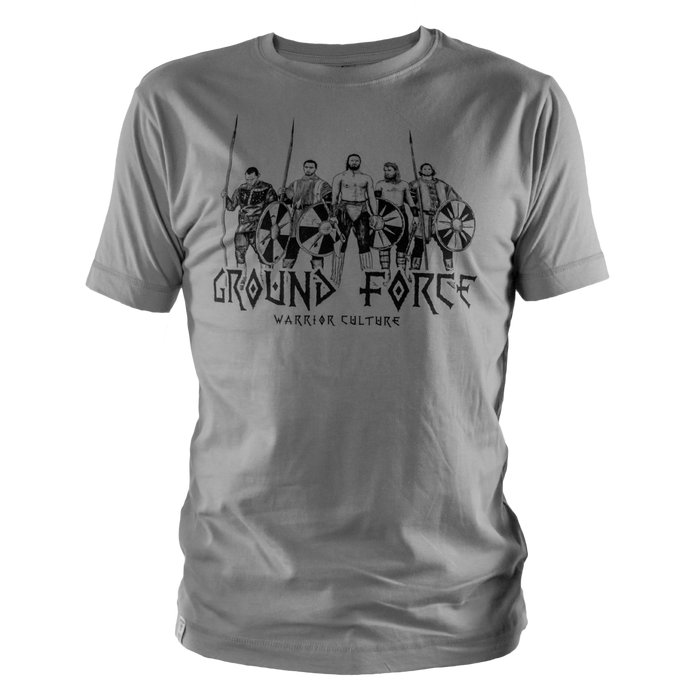 Ground Force Warrior Culture T-shirt viking grey front