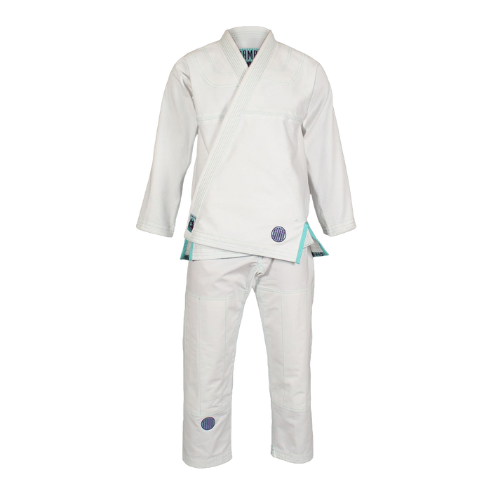 Inverted Gear Bamboo Gi bjj white front complete jacket pants