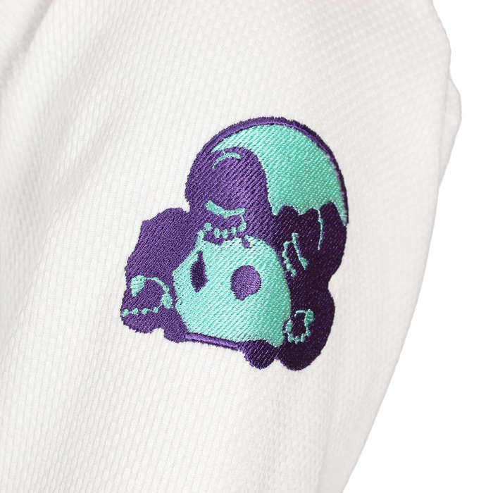 Inverted Gear Bamboo Gi bjj white shoulder logo