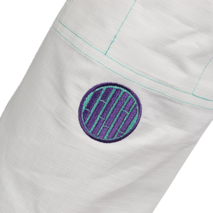 Inverted Gear Bamboo Gi bjj white front pants logo