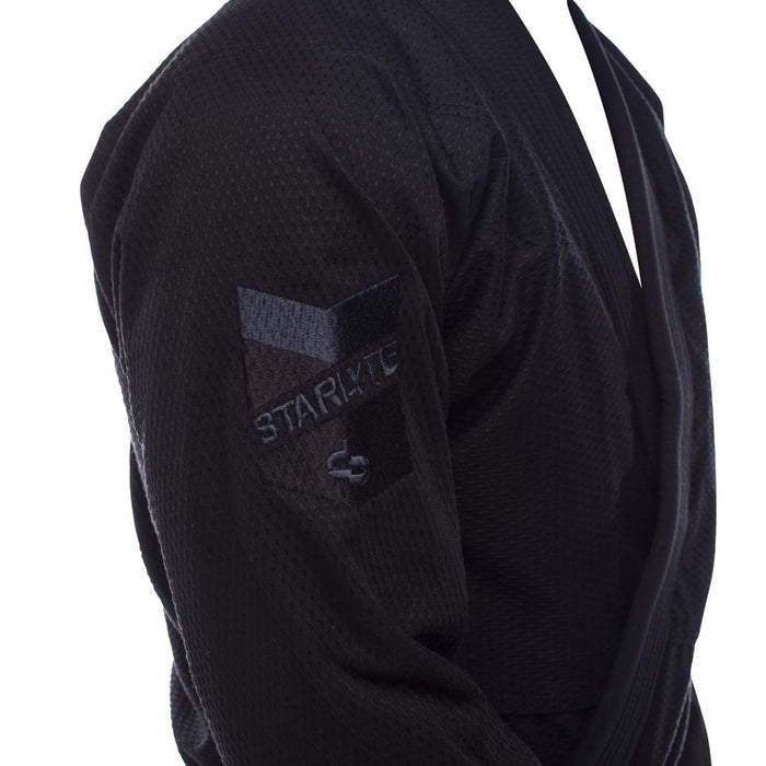 Hyperfly Starlyte BJJ Gi black front jacket right