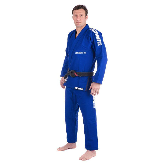 Tatami Essential BJJ Gi blue front side left