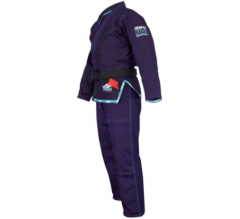 The Fuji Sports Suparaito Navy Womens BJJ Gi side left 1600x1600
