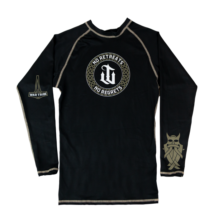 War Tribe No Retreats No Regrets Rashguard