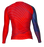 Fuji Americana Womens Rashguard Long Sleeve blue red back