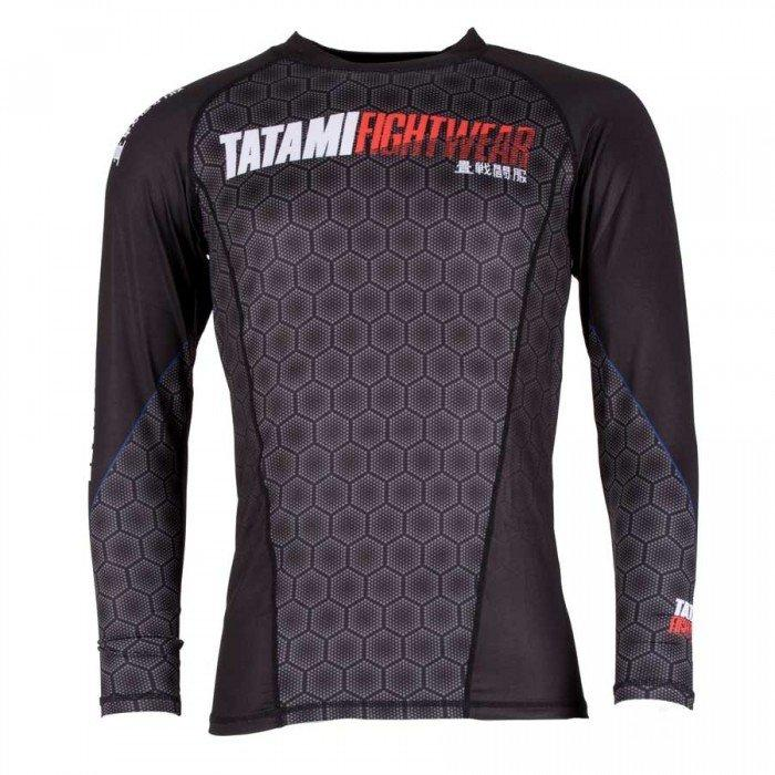 Tatami Essentials Black Hexagon Rash guard