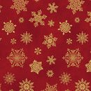 Playful Flakes Red $16.20 Metre, REDUCED TO $13.96/M