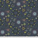 Fairy Circles - Navy $15.80/Metre,