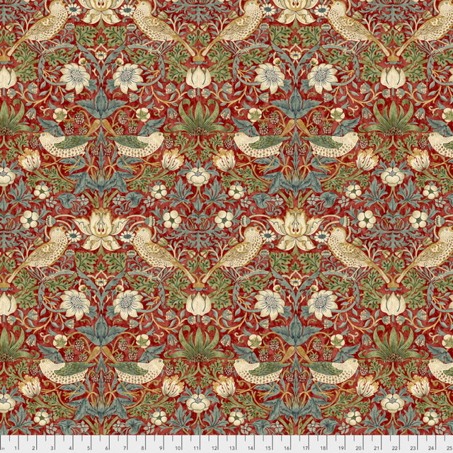 Strawberry Thief - Red $16.80/Metre