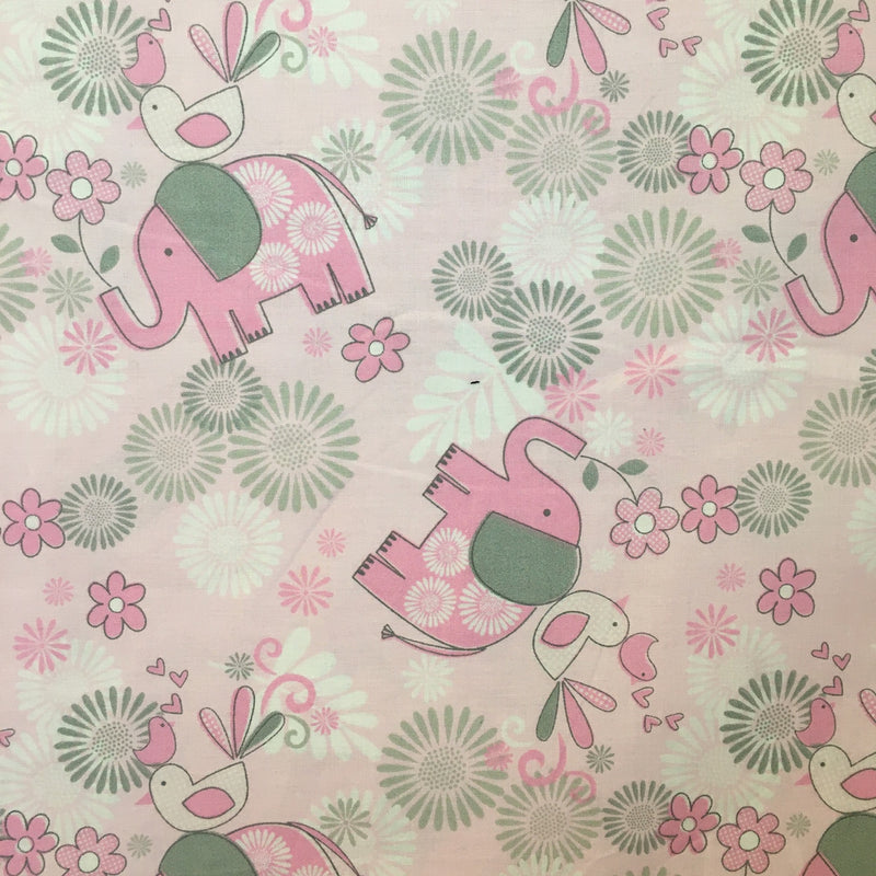 Pink Elephant $11.56 Metre, REDUCED to $10.56/Metre