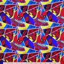 Spiderman **FLANNEL by Camelot Fabrics $11.56 Metre, REDUCED TO $7.20/M