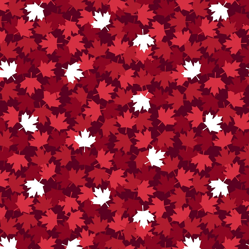 Canadian Christmas Maple Leaf Red $19.96/Metre
