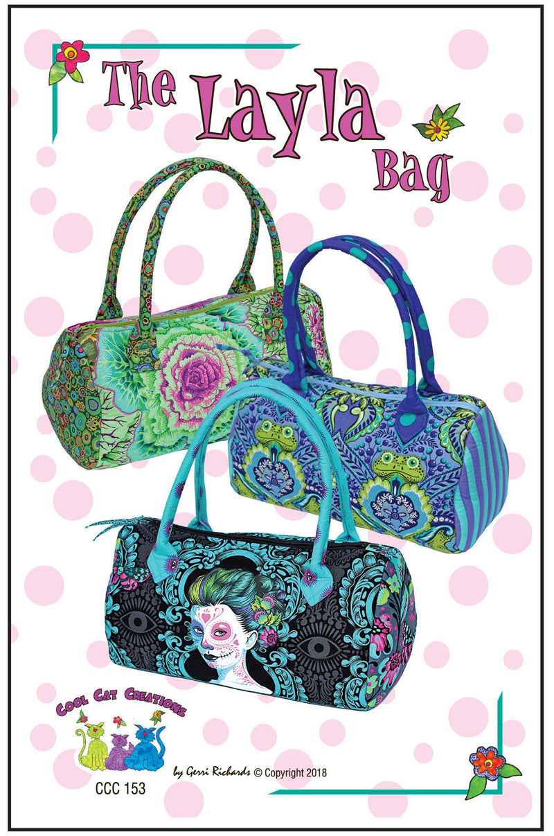 The Layla Bag Pattern by Cool Cat Creations
