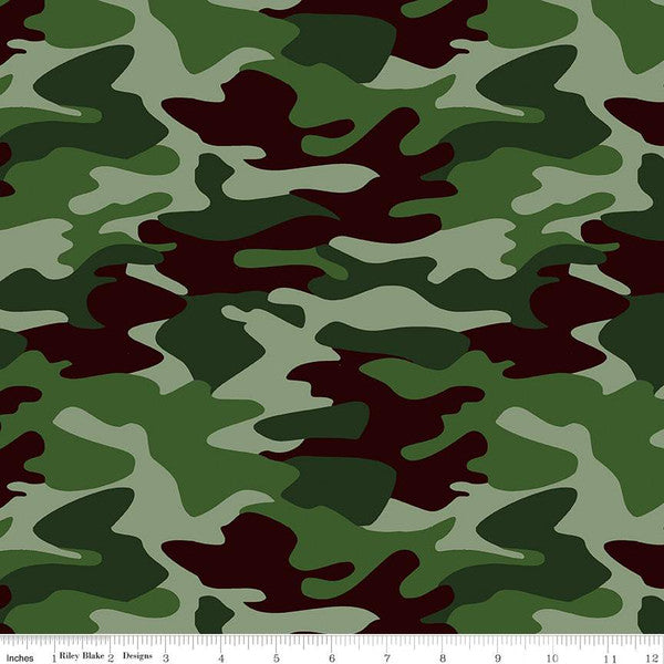 Nobody Fights Alone Camo Green $18.40/Metre REORDERED