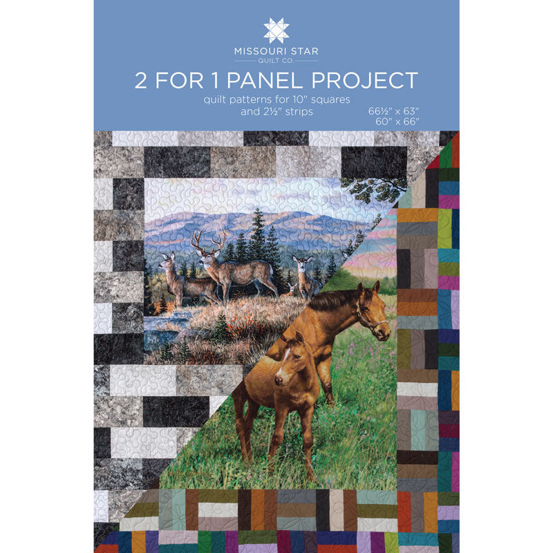 2 for 1 Panel Project Pattern by Missouri Star
