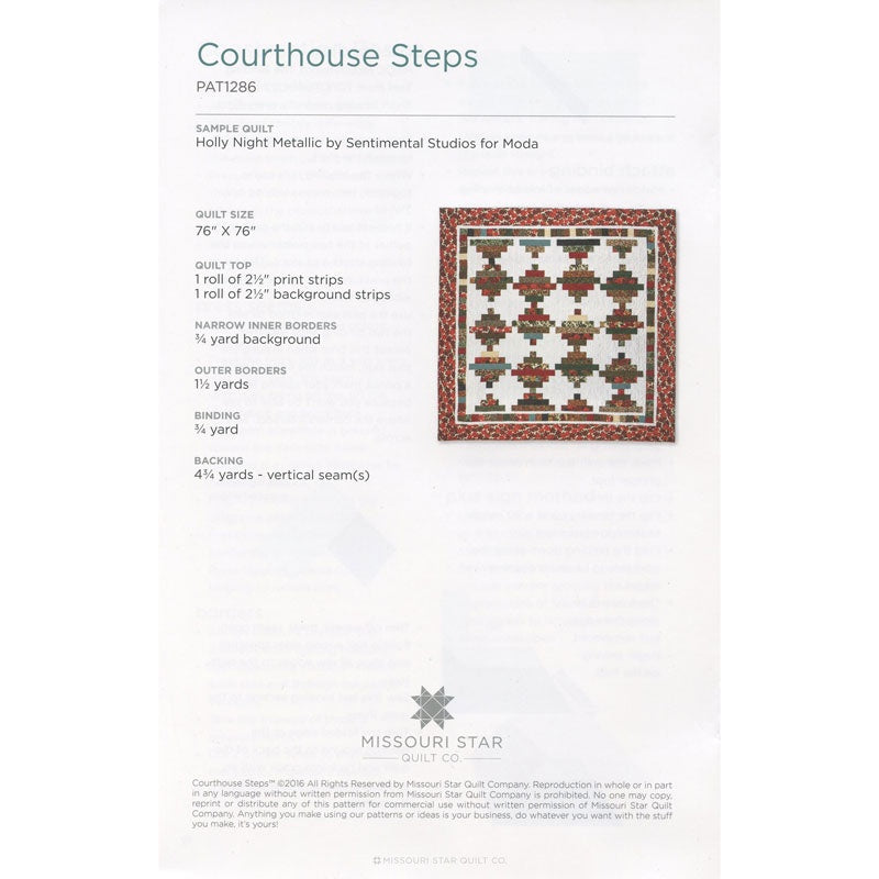 Courthouse Steps Quilt Pattern by Missouri Star