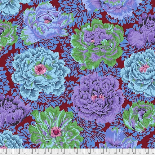 Kaffe Fassett Collective Brocade Peony Cool - Feb 2021