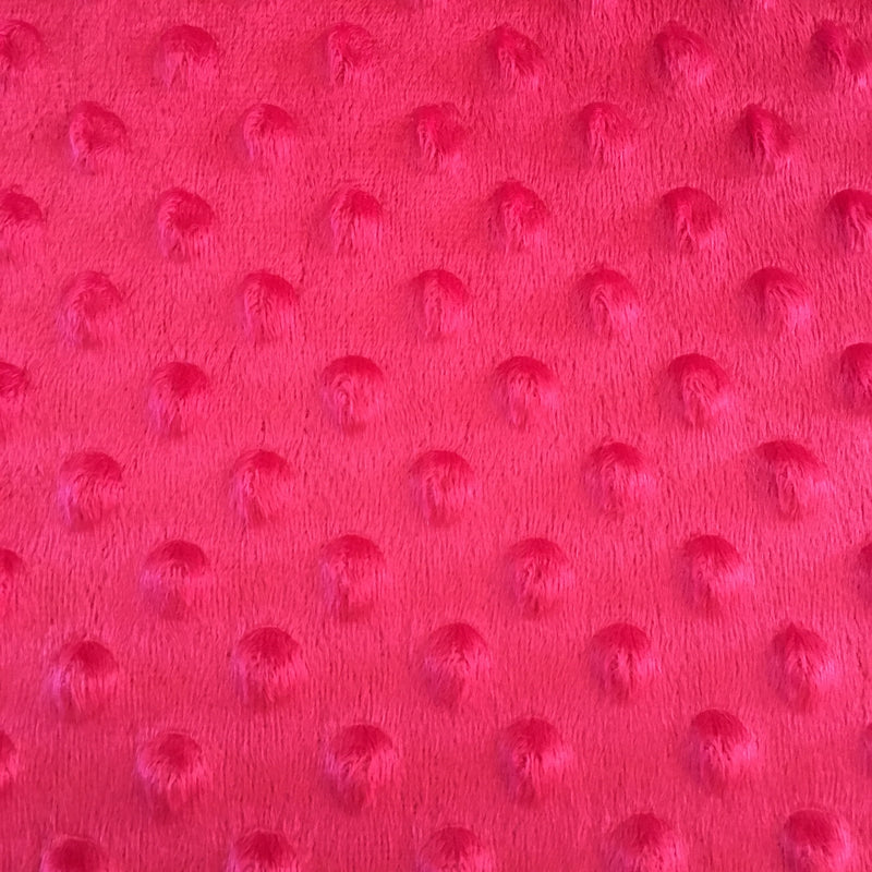 Minky Dot Fabric Red $12.48 Metre