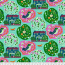 Homeward by Monika Forsberg My Block - Seafoam $16.20/Metre
