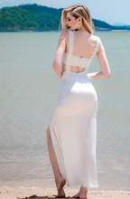 Load image into Gallery viewer, Lucinda Scruffy Crop Crop Top Maxi Dress