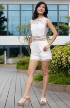 Load image into Gallery viewer, Wisteria Square Top Lace Romper