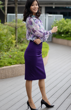 Load image into Gallery viewer, Lilac Ruffle Cuffed Blouse