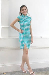 Ophelia Radiance Checkered Cheongsam