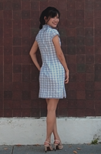 Load image into Gallery viewer, Phoebe Checkered Cheongsam