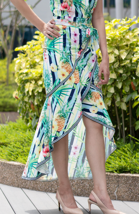 Tropical Flutter Tie Skirt