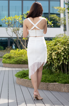 Load image into Gallery viewer, Jenna A-Symmetrical Fringe Skirt