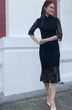 Load image into Gallery viewer, Rebecca Lace Cheongsam Dress