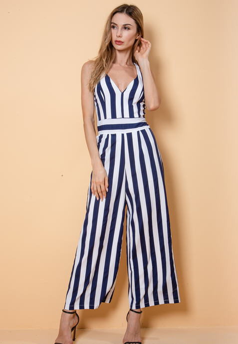 Stripe Sailor Jumpsuit