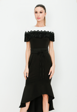 Load image into Gallery viewer, Monochrome Frill Dress